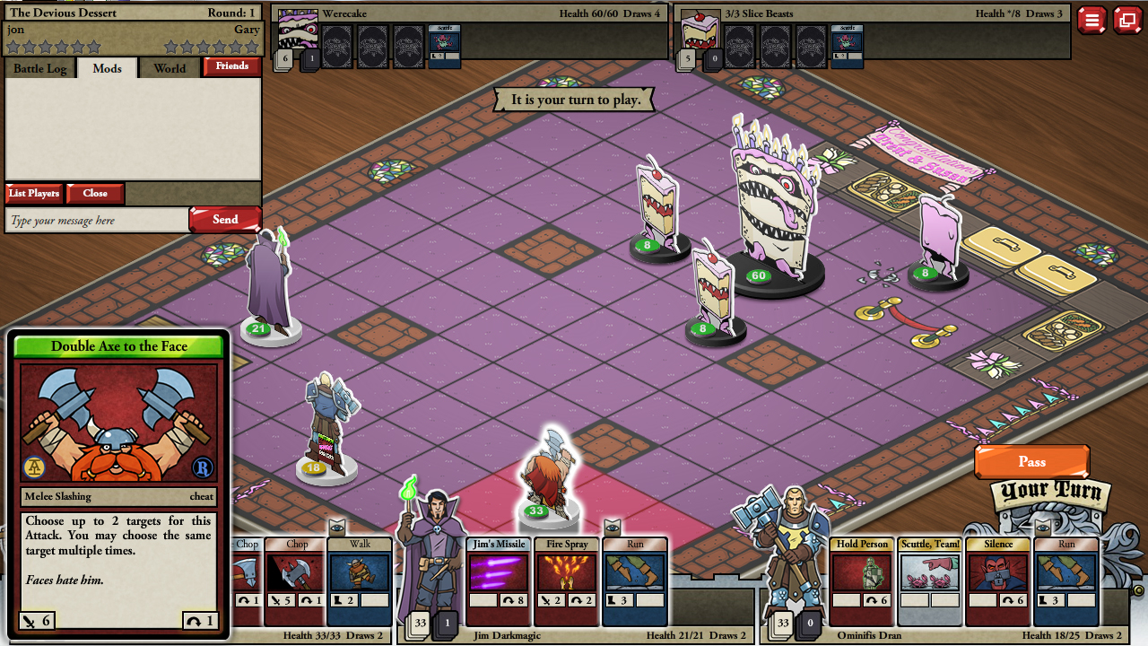 Card Hunter Gameplay Screenshot 1