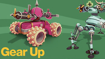 Gear Up - Control your unique tank or robot in multiplayer arcade action!
