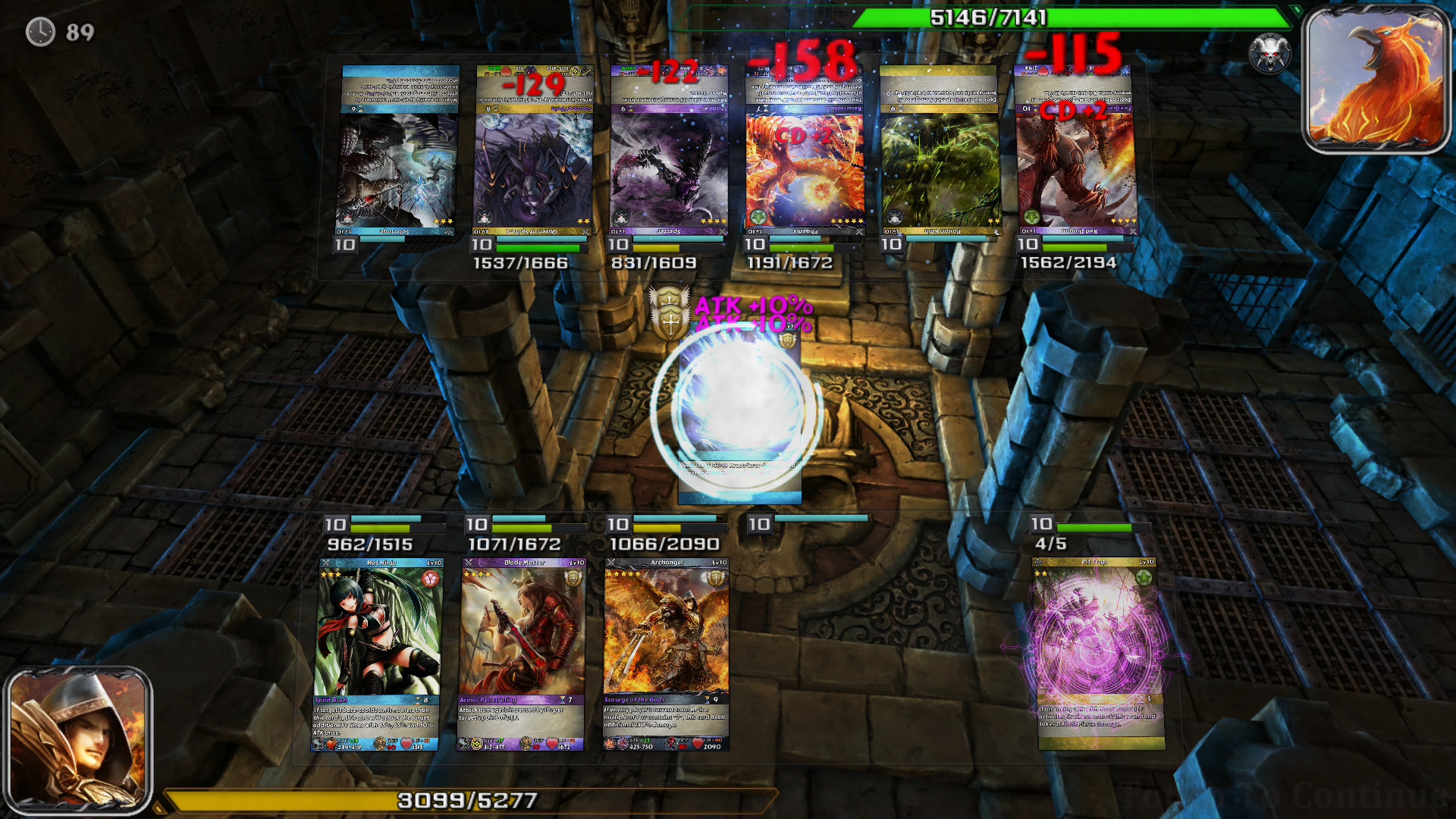 Epic Cards Battle Gameplay Screenshot 1