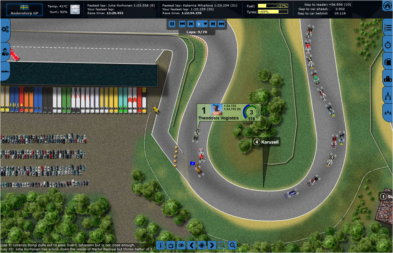 Grand Prix Racing Online Gameplay Screenshot 1