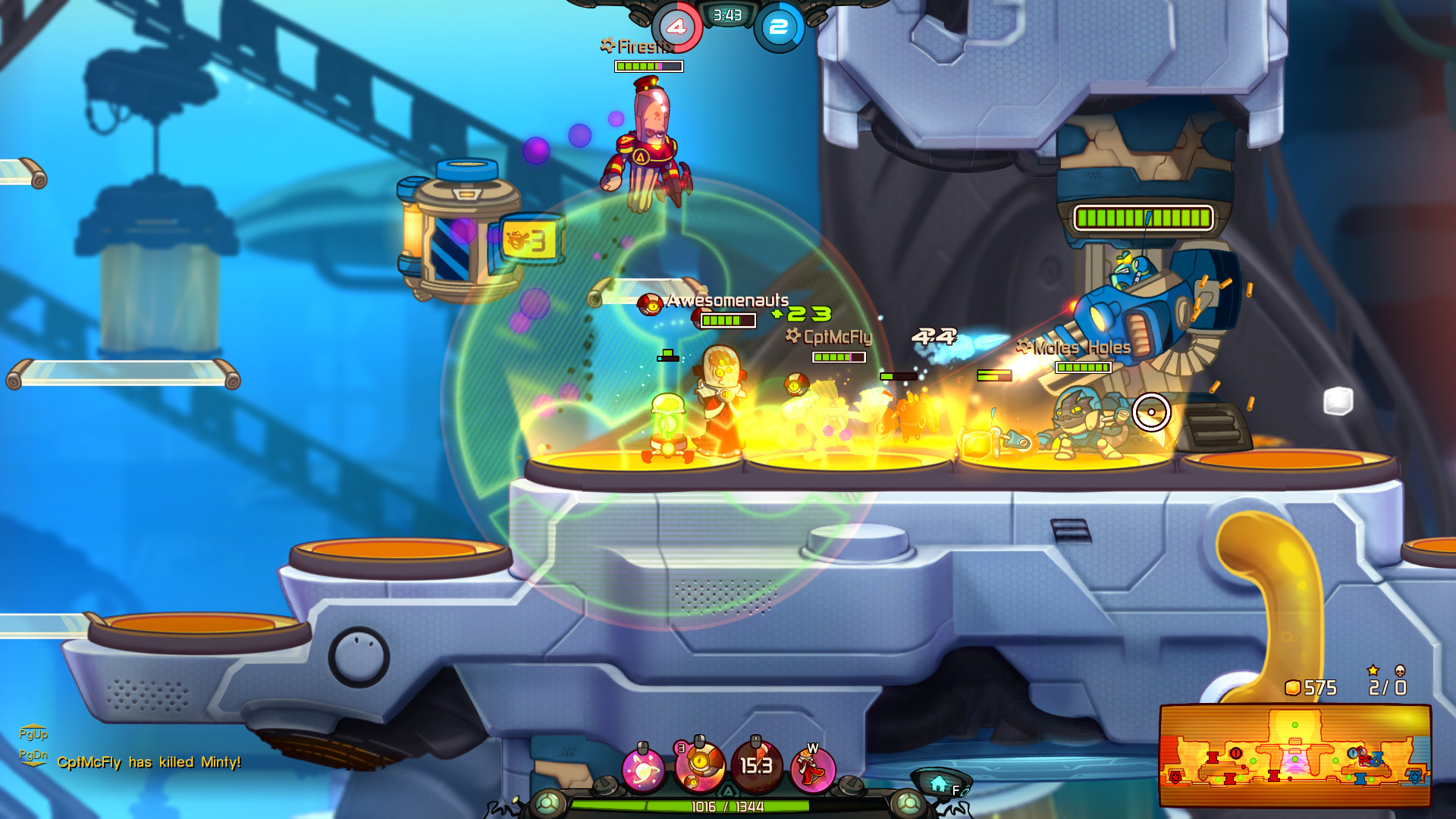 Awesomenauts Gameplay Screenshot 1