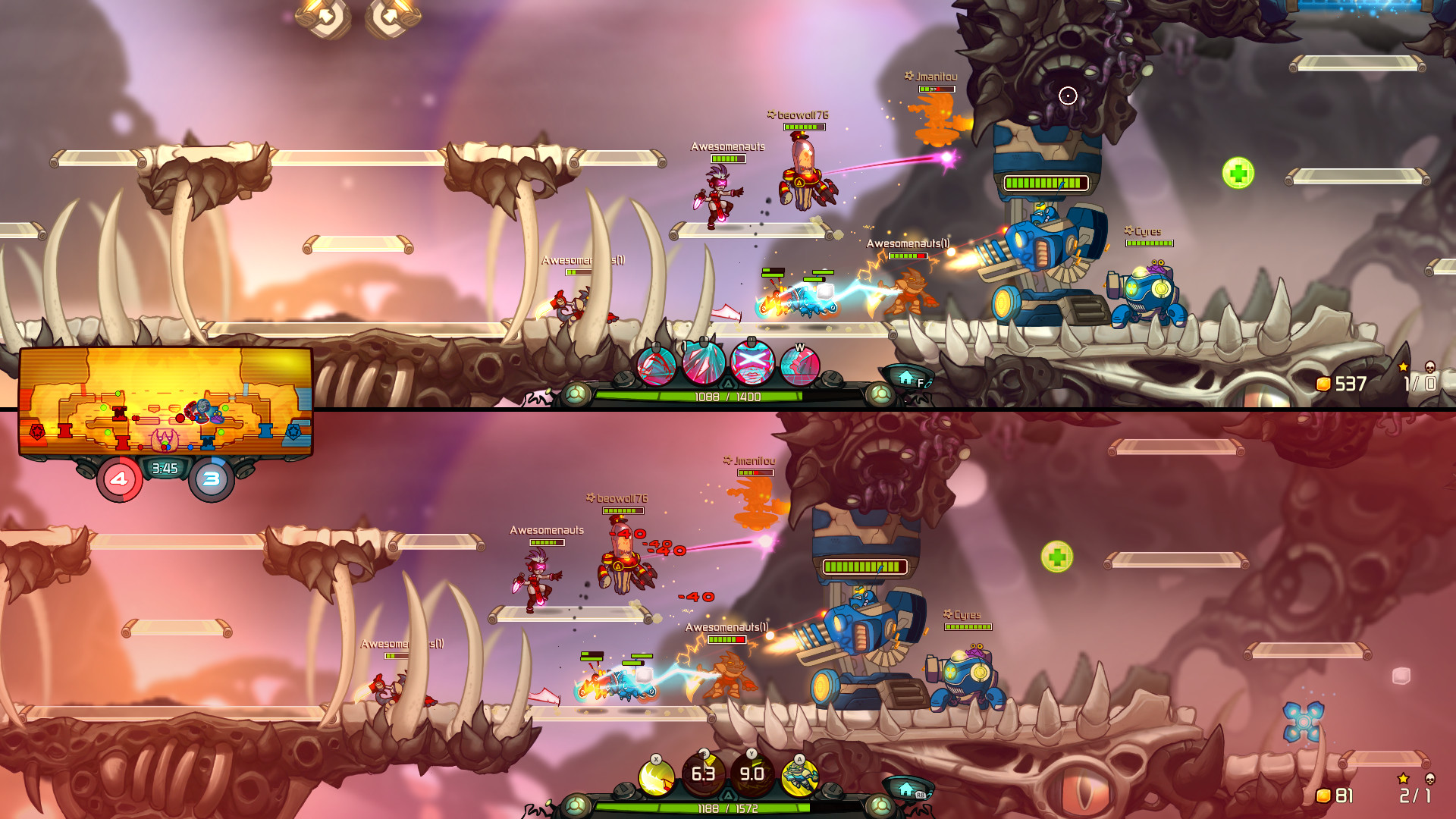 Awesomenauts Gameplay Screenshot 3