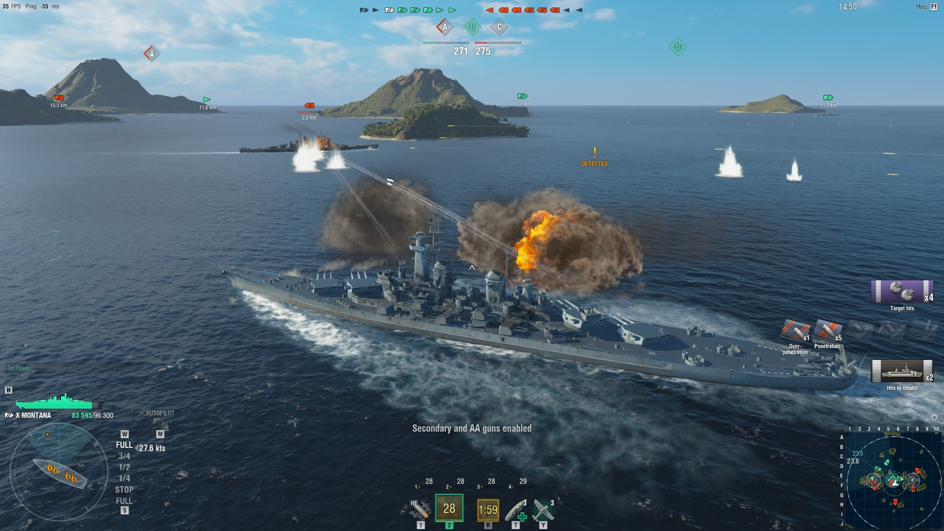 World of Warships Gameplay Screenshot 3