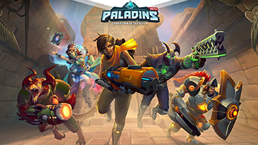 Paladins - A free-to-play team-based shooter developed and published by Hi-Rez Games, the creators of SMITE.