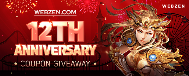 Webzen 12th Anniversary Key Giveaway